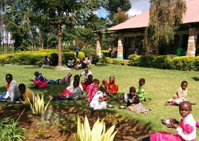 Picnic on the Our Lady of Grace grounds