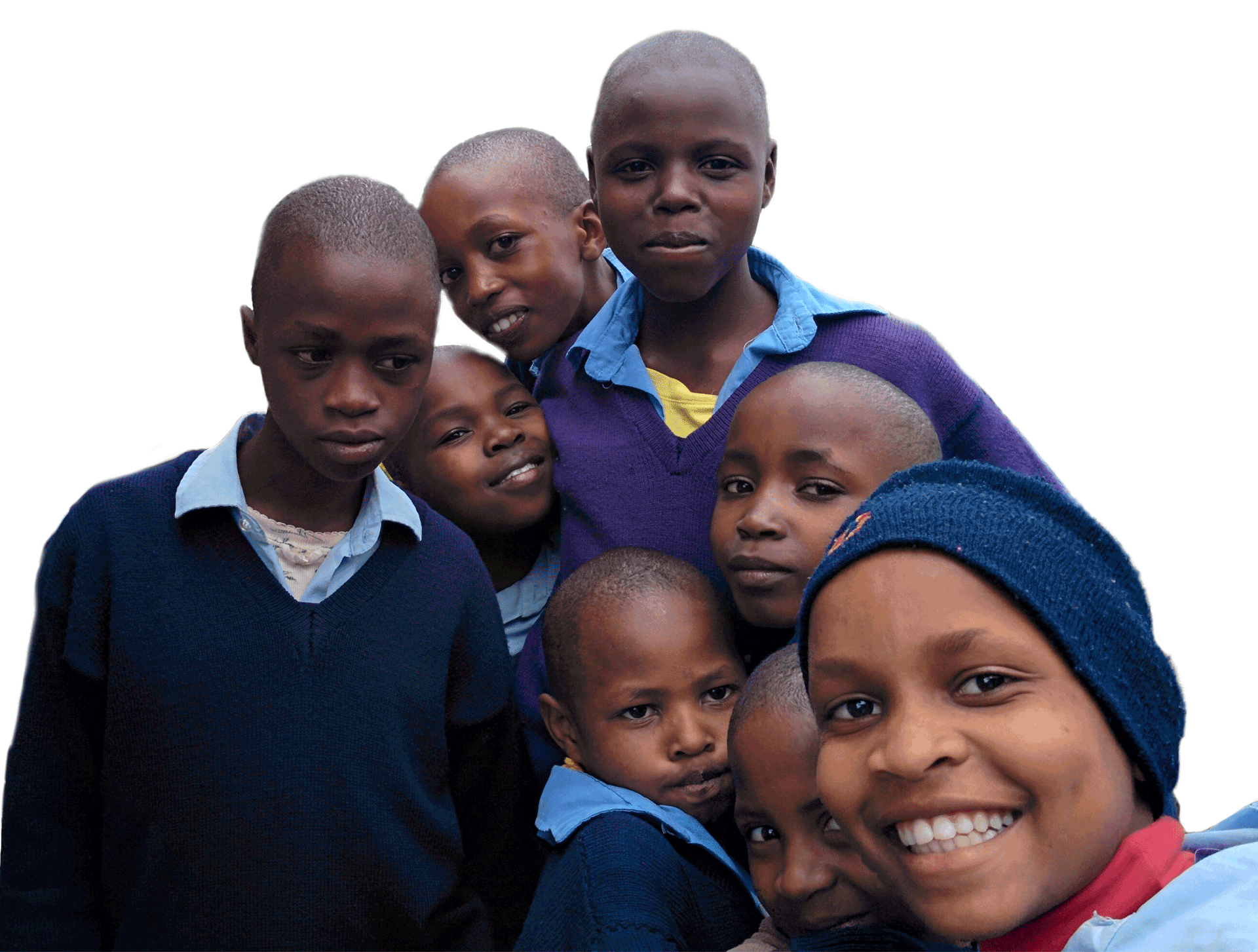 a group of girls whom attend Our Lady of Grace  School in Kenya