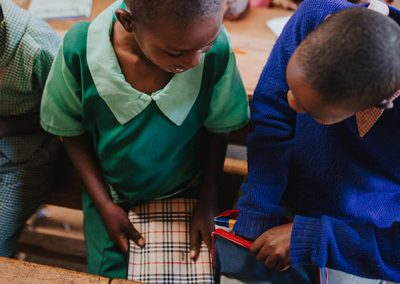 Drumheller School Donation of Pencil Cases