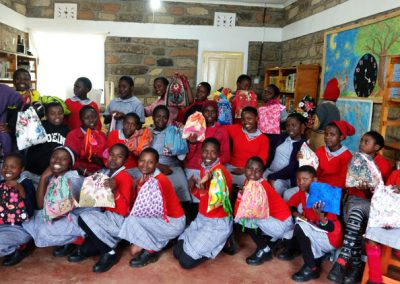 Denise Kissel sewed 30 feminine hygiene kits which can be washed and reused. In a country were 2/3 of the girls miss school each month because they lack feminine hygiene products, this was a great offering.