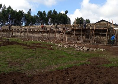 construction of the kindergarten complex funded by Action for God's Love Society