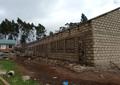 construction of the kindergarten complex funded by Action for God's Love Society Canada