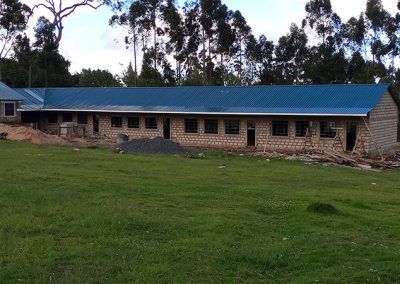 Kindergarten Roof completed with a beautiful blue tin sheeting