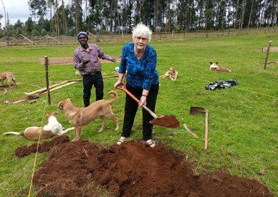Momma Rita Breaking Ground for the new kindergarten complex