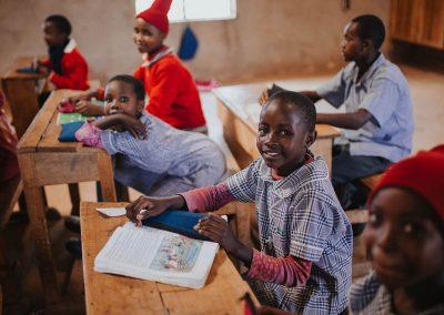 School Girls in Classroom