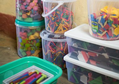 Buckets of Learning Aids for the students